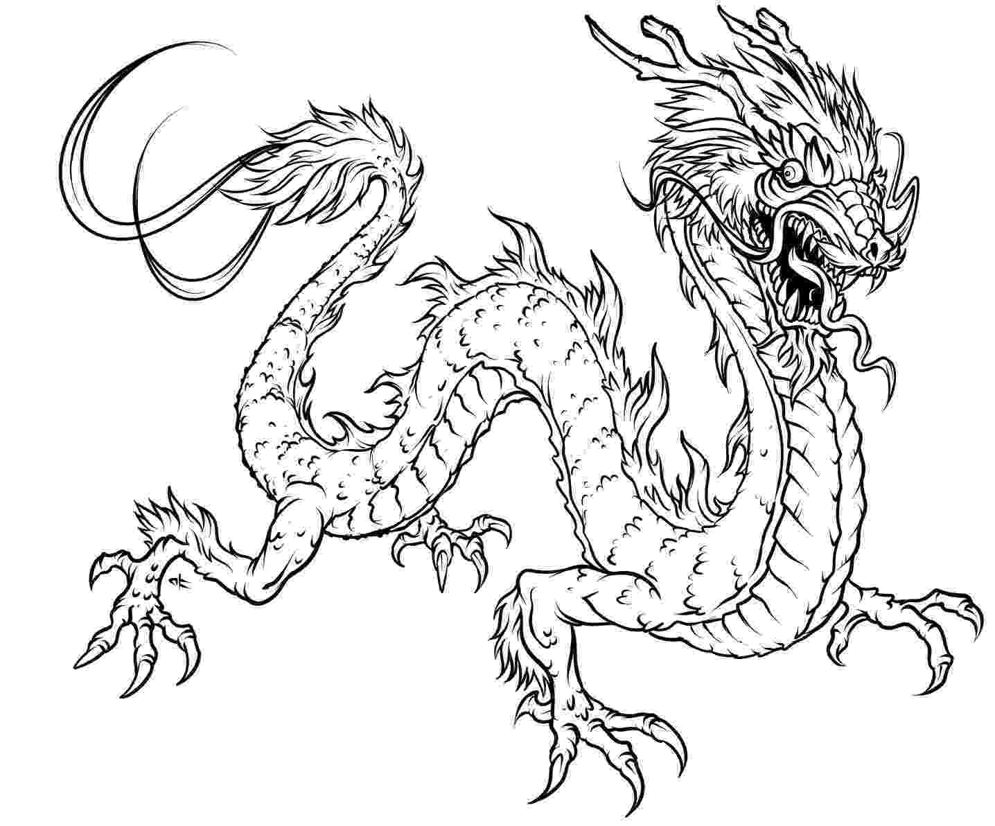 color dragon dragon coloring pages for adults to download and print for color dragon