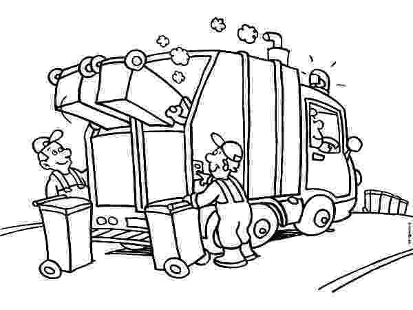 color garbage truck dump truck coloring pages to download and print for free truck garbage color