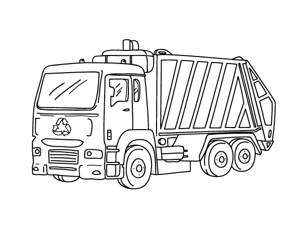 color garbage truck garbage truck coloring pages for kids classroom color garbage truck