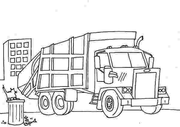 color garbage truck garbage truck semi truck coloring page netart truck color garbage