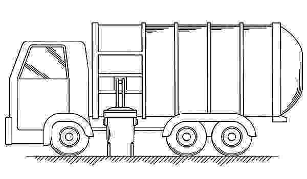 color garbage truck garbage waste truck coloring pages download print garbage color truck