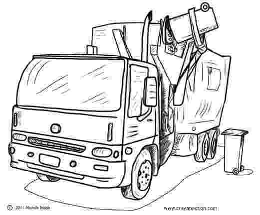color garbage truck main image for the garbage truck coloring page garbage garbage truck color