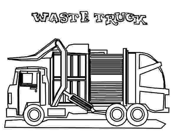 color garbage truck put all garbage inside truck coloring pages download truck color garbage