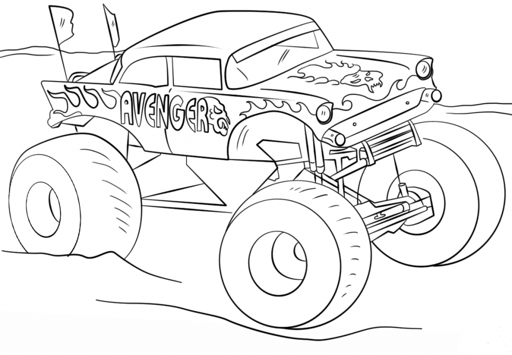 color monster trucks 10 monster jam coloring pages to print color monster trucks