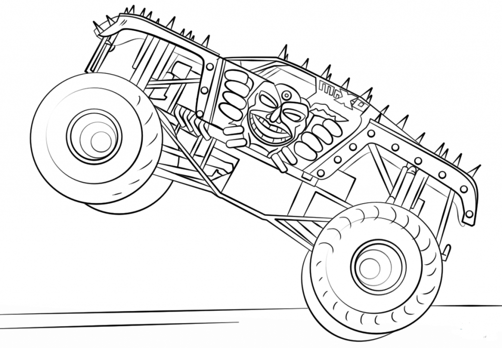 color monster trucks 10 monster jam coloring pages to print color trucks monster