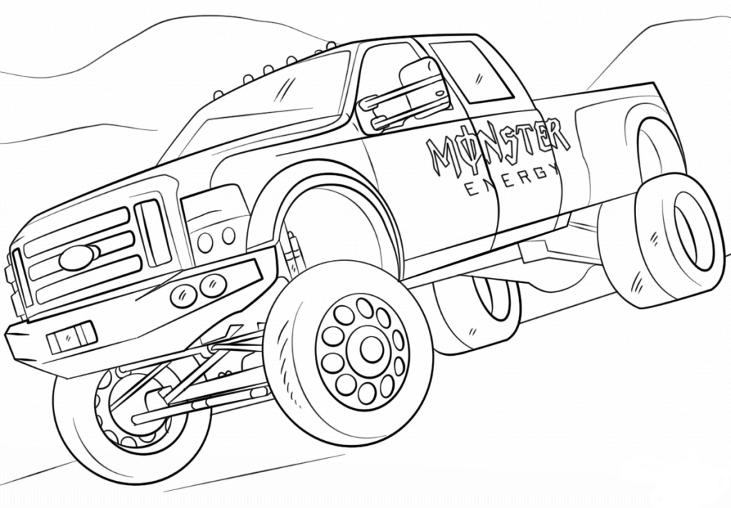color monster trucks 10 monster jam coloring pages to print monster color trucks