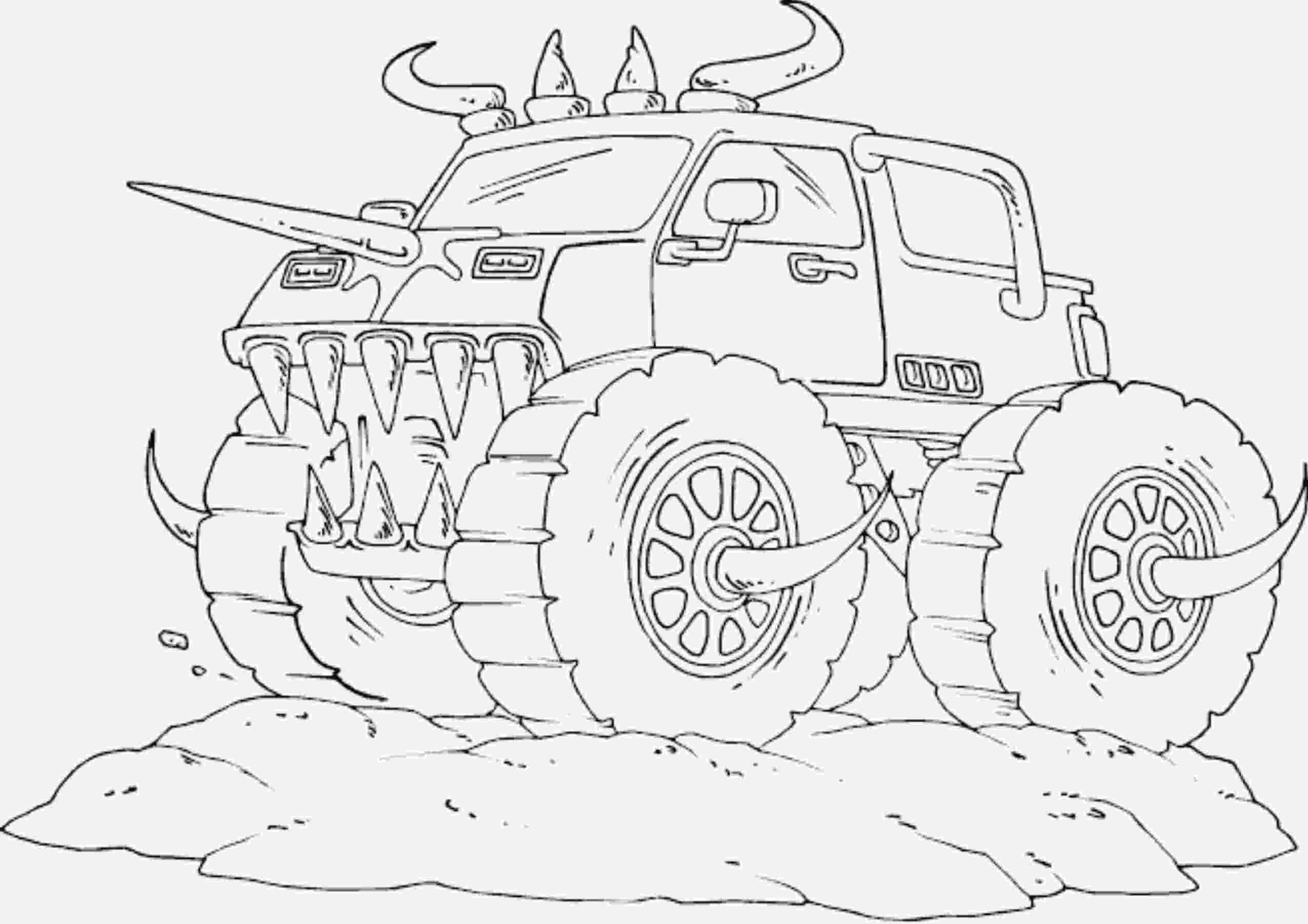 color monster trucks drawing monster truck coloring pages with kids monster color trucks