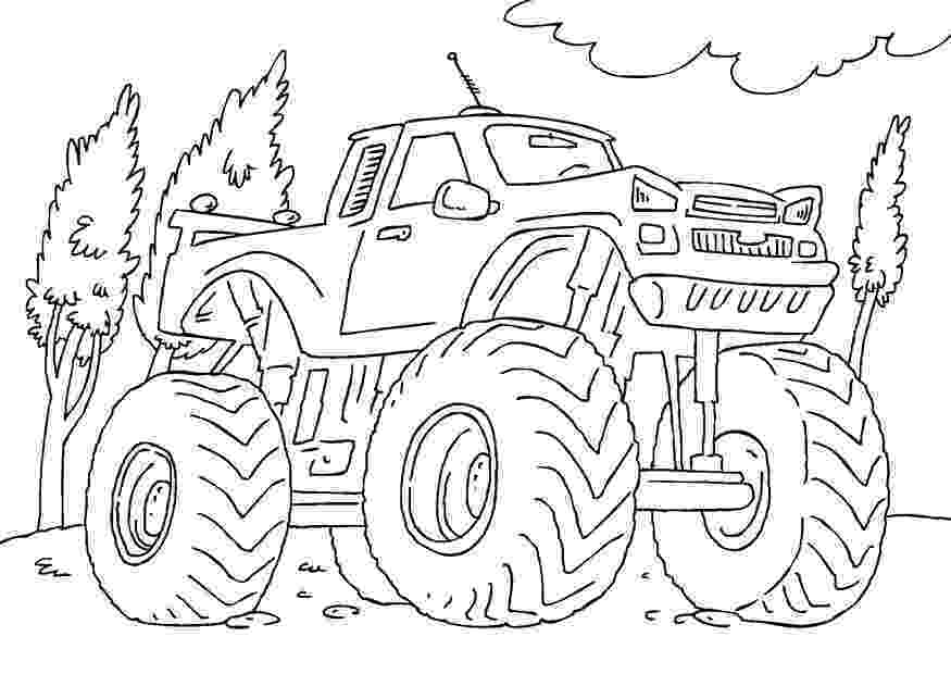 color monster trucks drawing monster truck coloring pages with kids monster trucks color