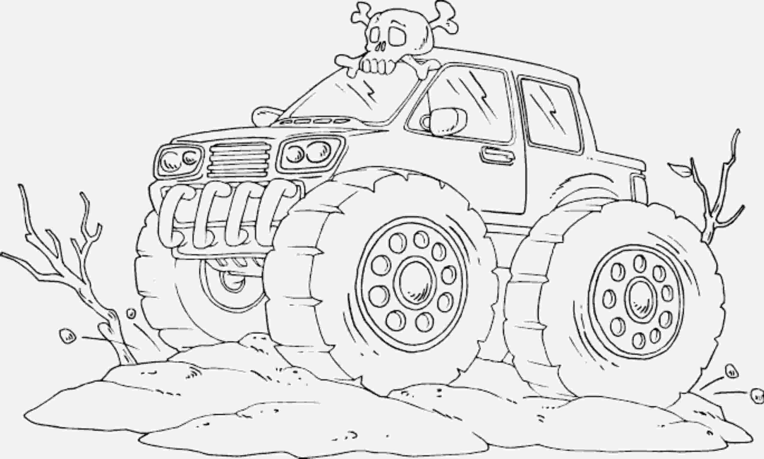 color monster trucks drawing monster truck coloring pages with kids trucks monster color