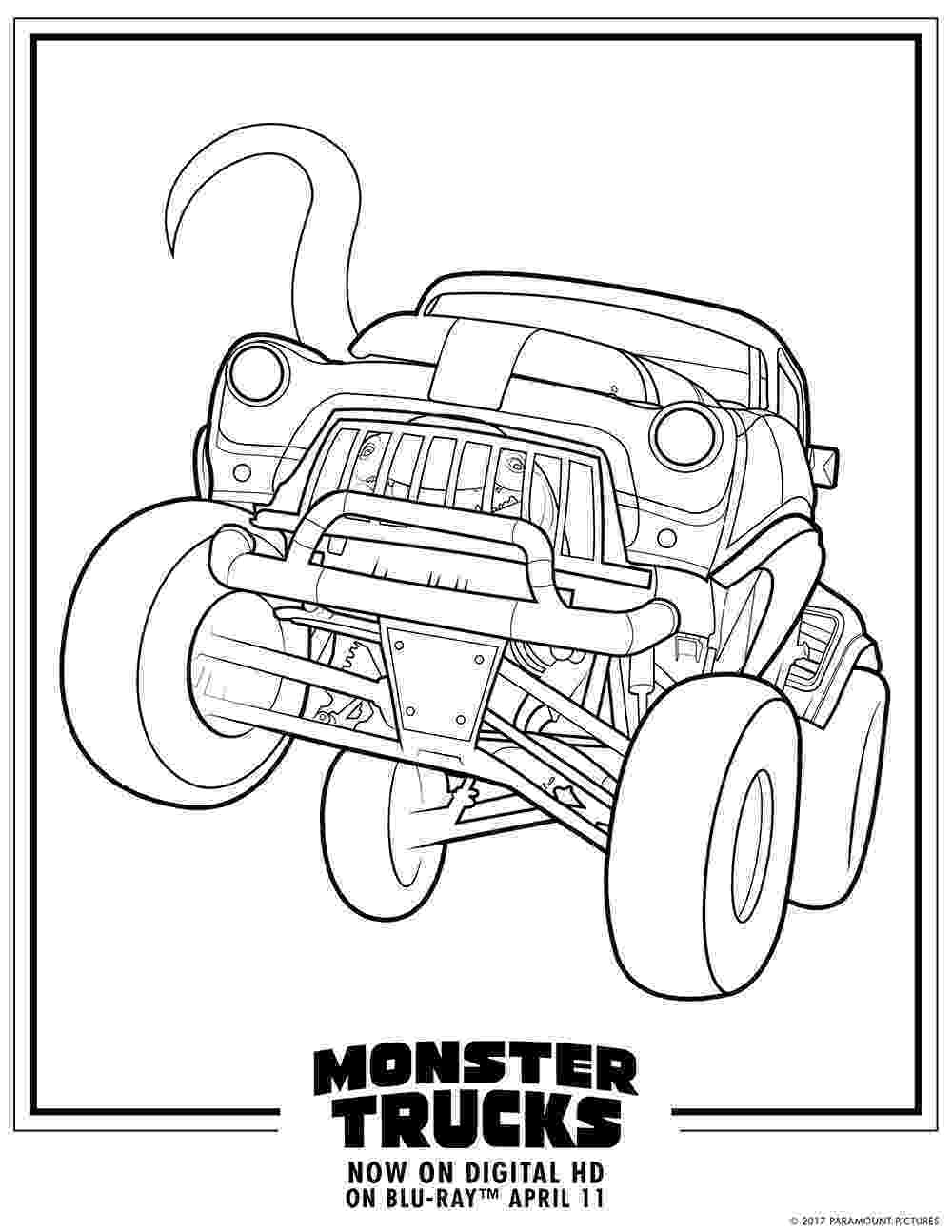 color monster trucks monster trucks printable coloring pages all for the boys monster color trucks
