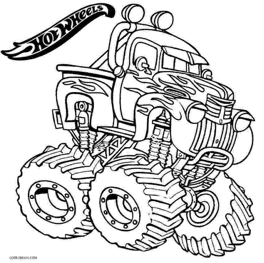 color monster trucks printable hot wheels coloring pages for kids cool2bkids monster trucks color
