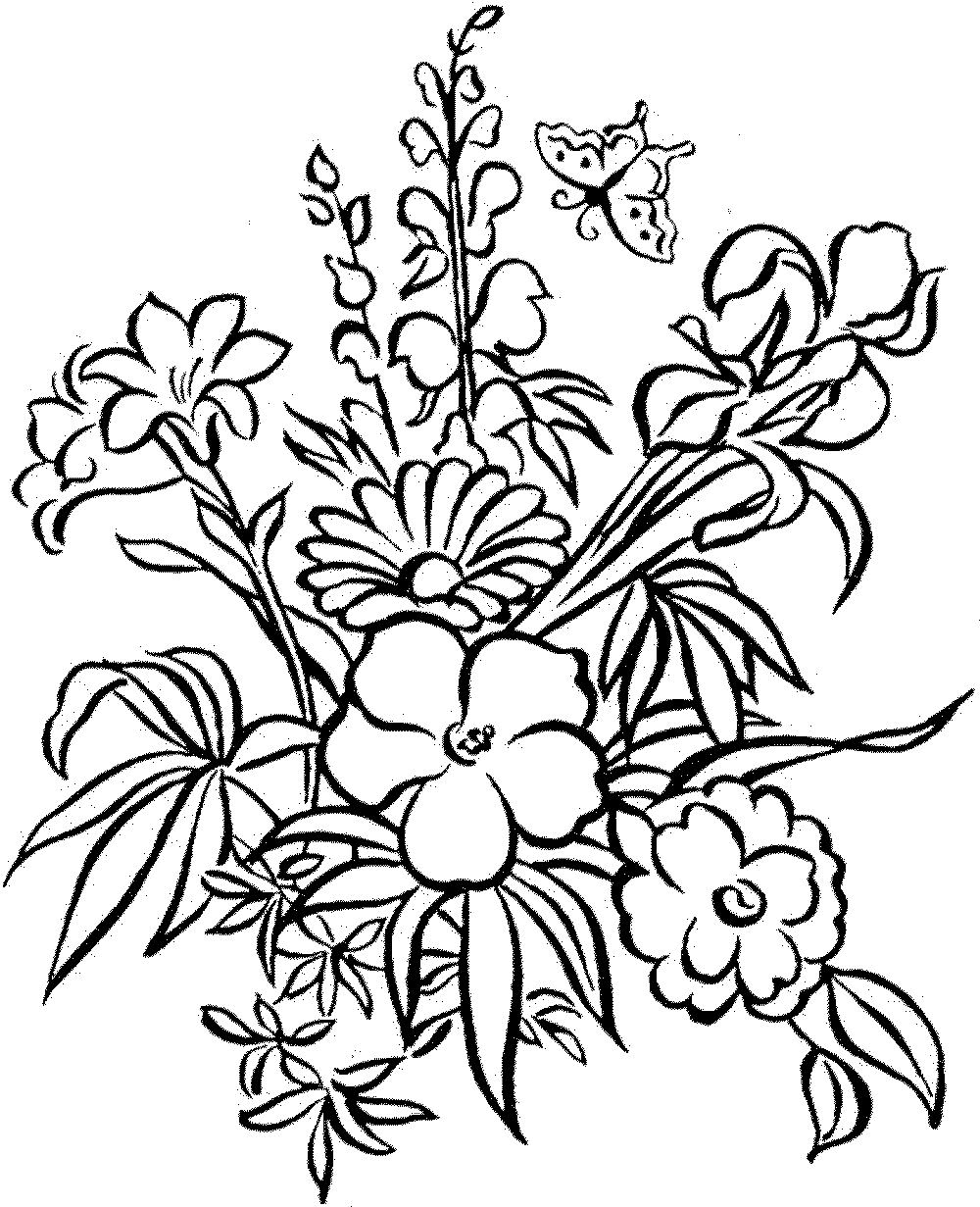 color page flower detailed flower coloring pages to download and print for free flower page color