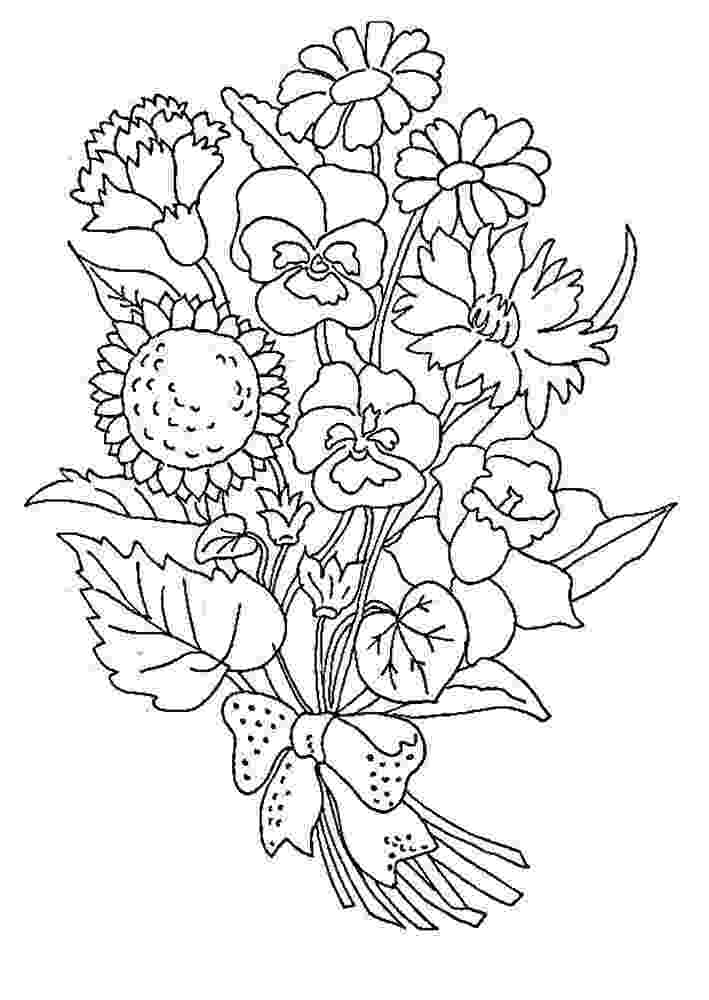 color pages of flowers bouquet of flowers coloring pages for childrens printable color of flowers pages