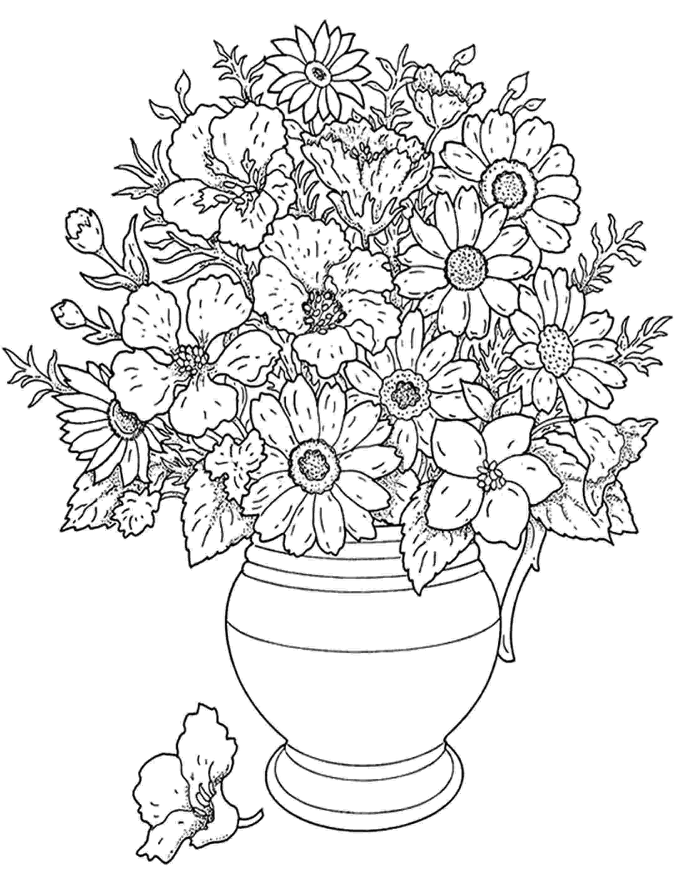 color pages of flowers detailed flower coloring pages to download and print for free color flowers pages of