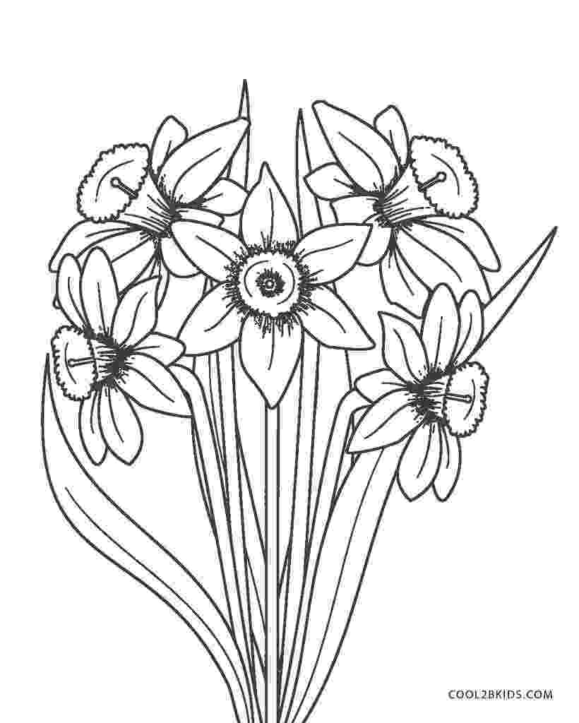 color pictures of flowers free printable flower coloring pages for kids cool2bkids pictures color of flowers