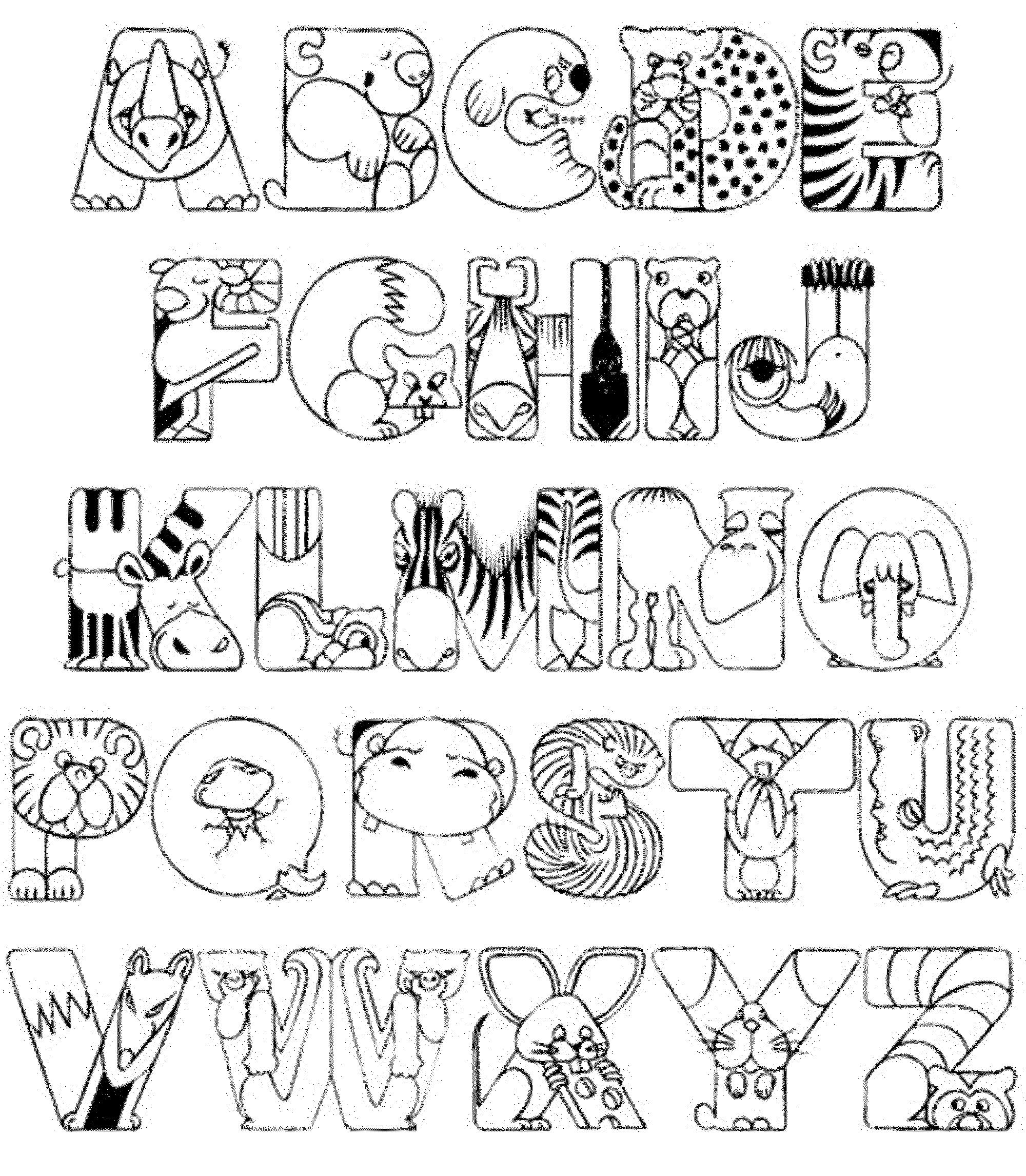 coloring animal alphabet free printable alphabet coloring pages for kids best animal coloring alphabet