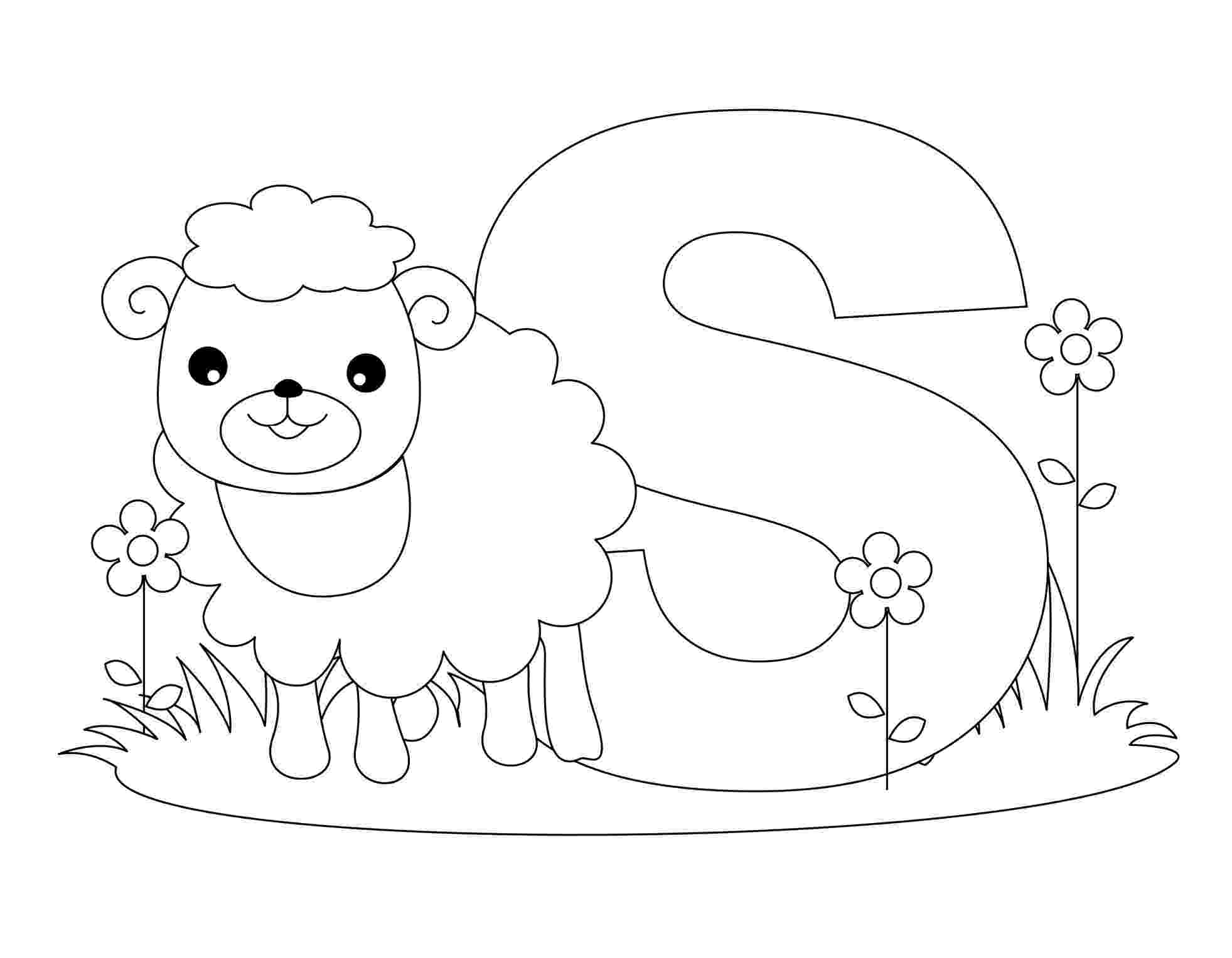 coloring animal alphabet free printable alphabet coloring pages for kids best coloring alphabet animal