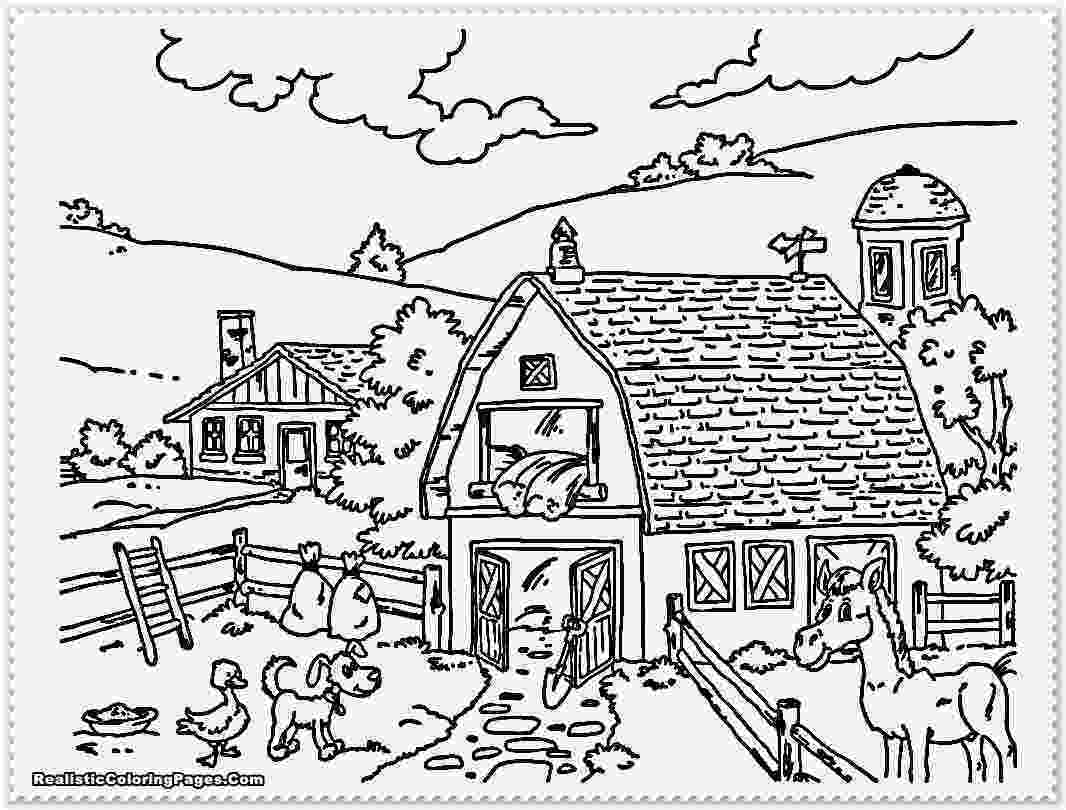 coloring animal farm farm animals coloring pages getcoloringpagescom farm animal coloring 1 1