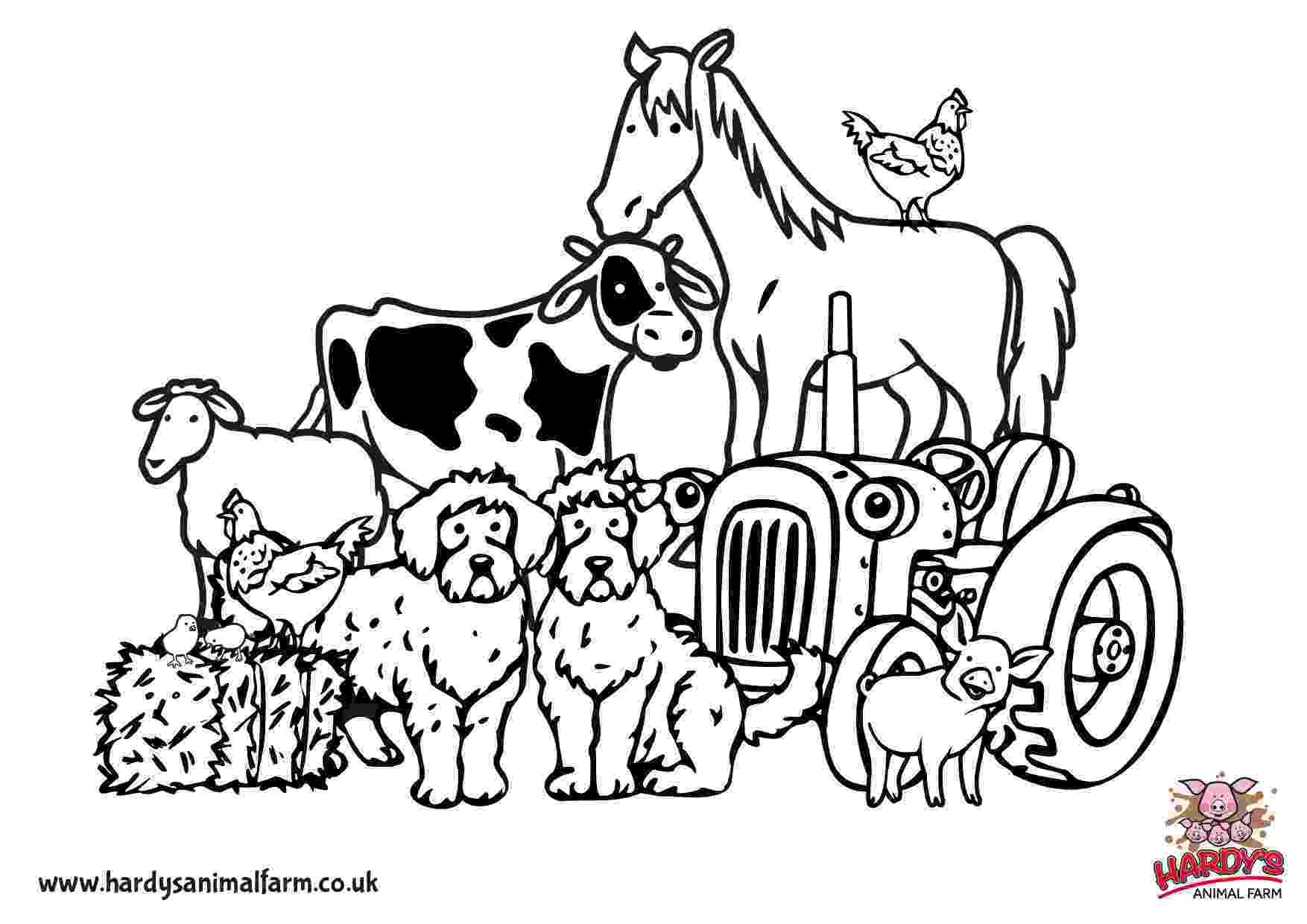 coloring animal farm free printable farm animal coloring pages for kids coloring animal farm