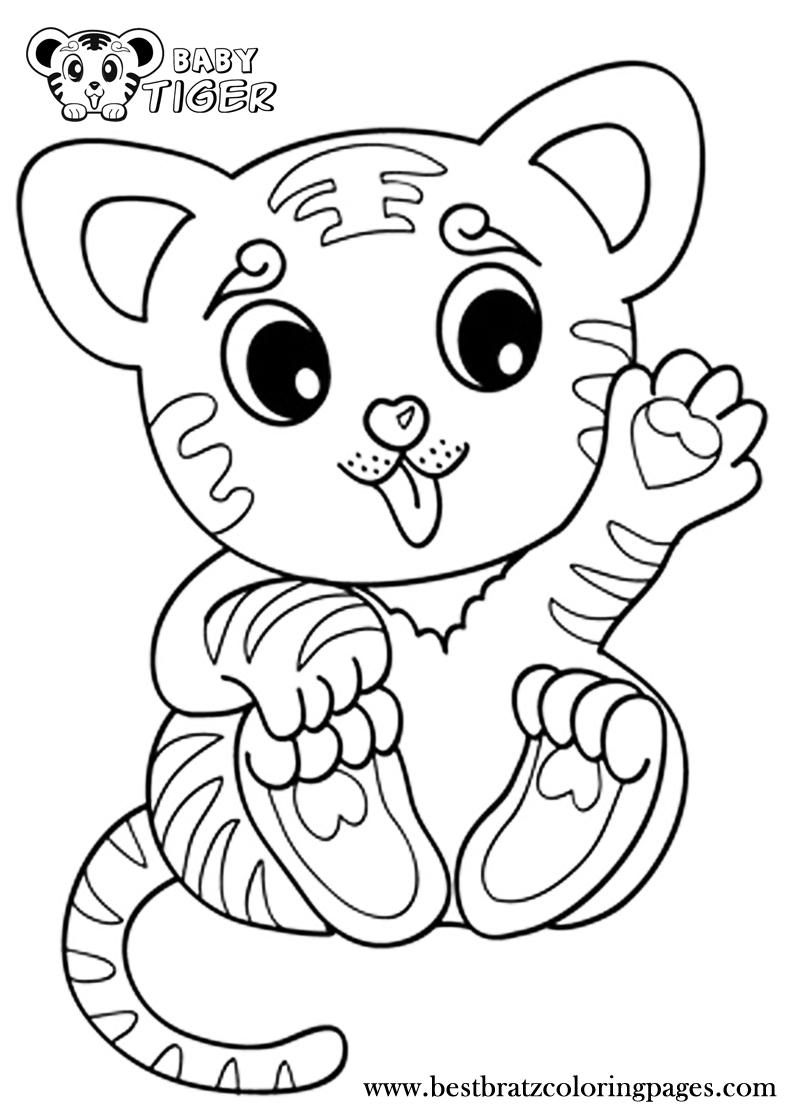 coloring baby animals cute baby animals coloring pages getcoloringpagescom animals baby coloring