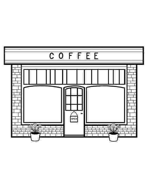 coloring book cafe coloring page restaurant free printable coloring pages book cafe coloring