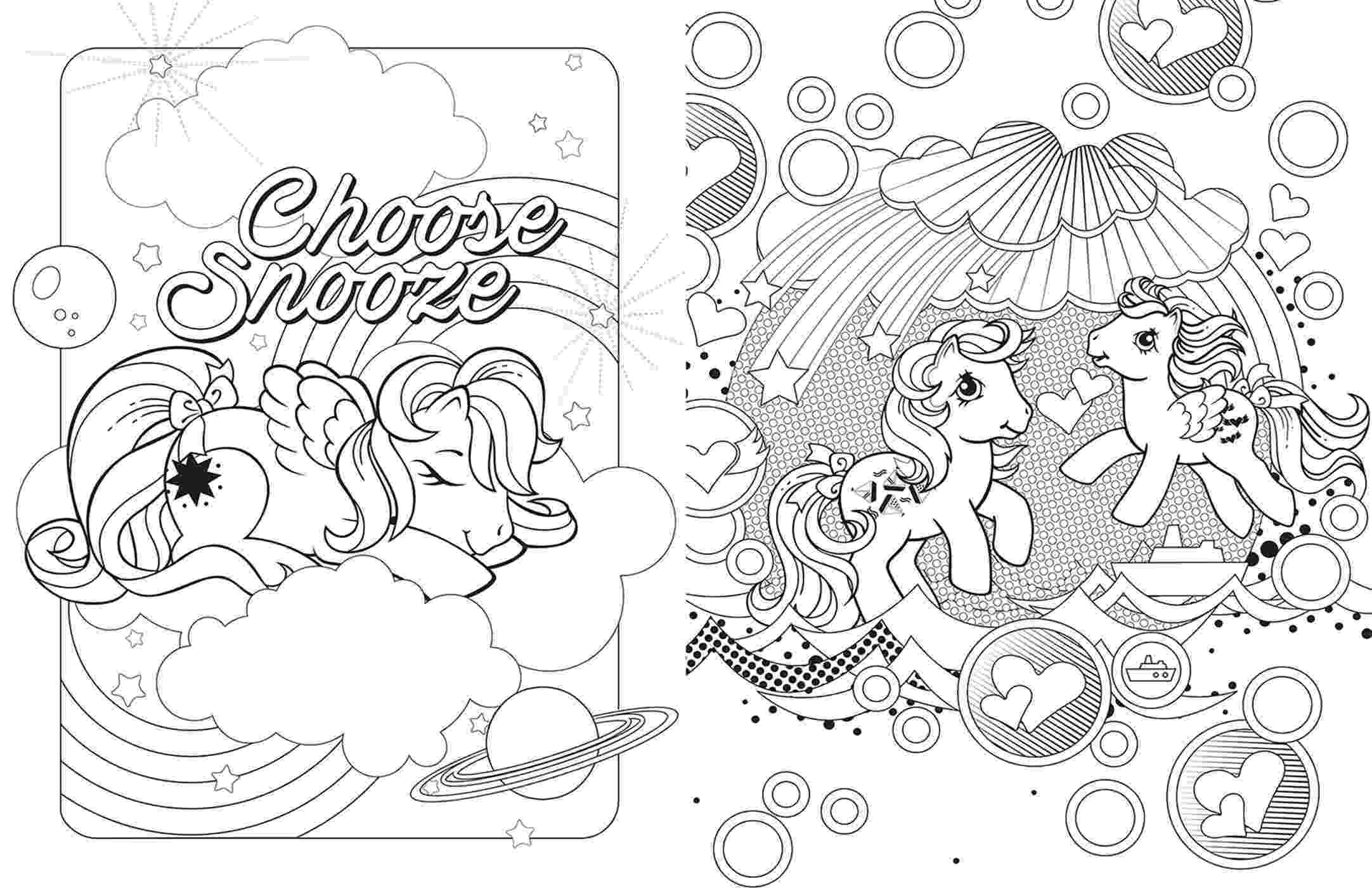 coloring book editor my little pony retro coloring book book by editors of coloring book editor