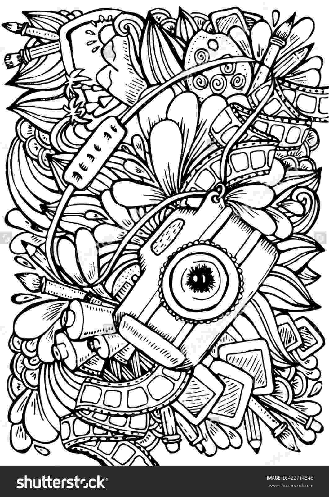 coloring book for adults tokopedia vector hand drawn pattern anti stress coloring book page for tokopedia book coloring adults