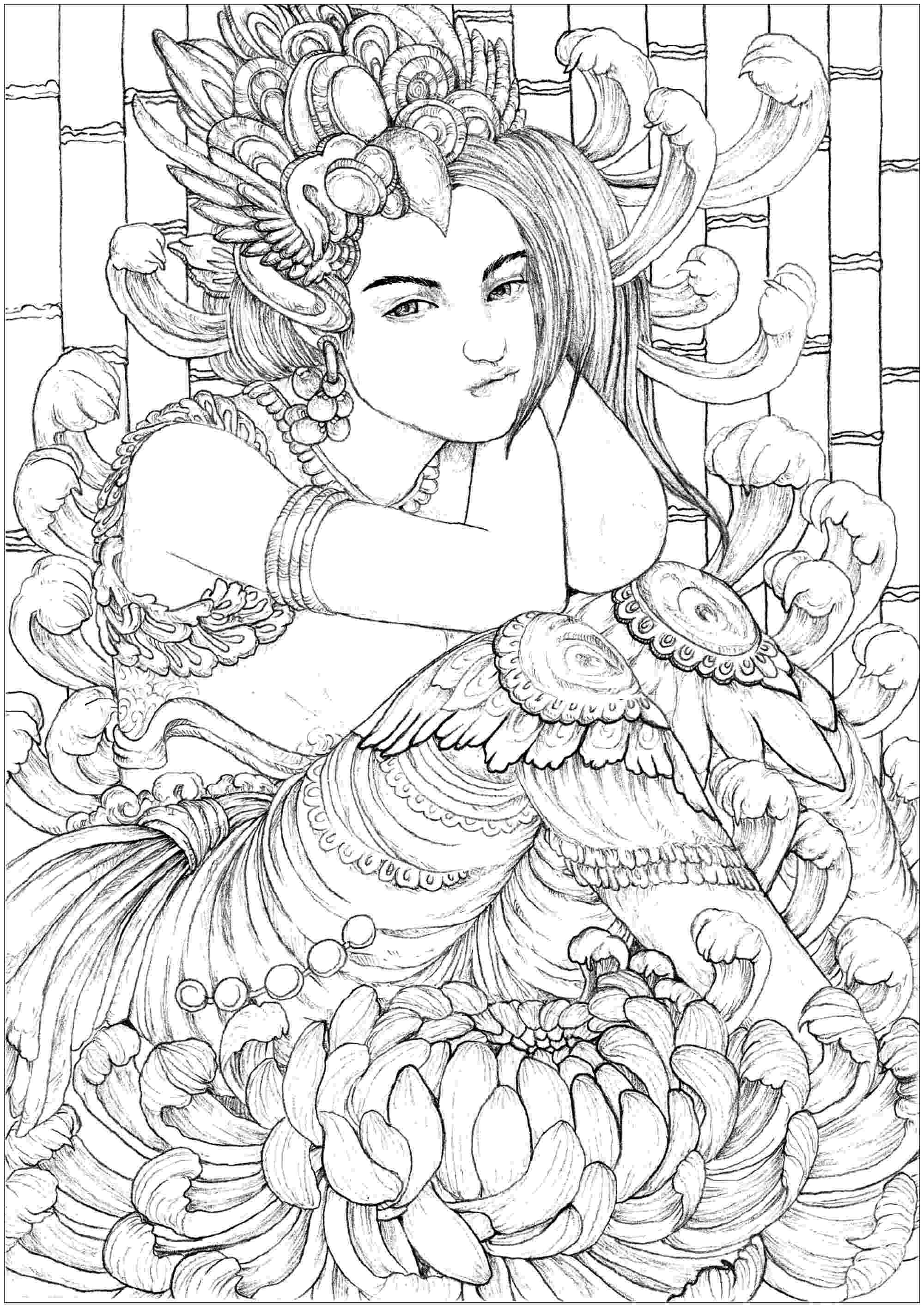 coloring book for adults where to woman coloring pages for adults for to where coloring adults book
