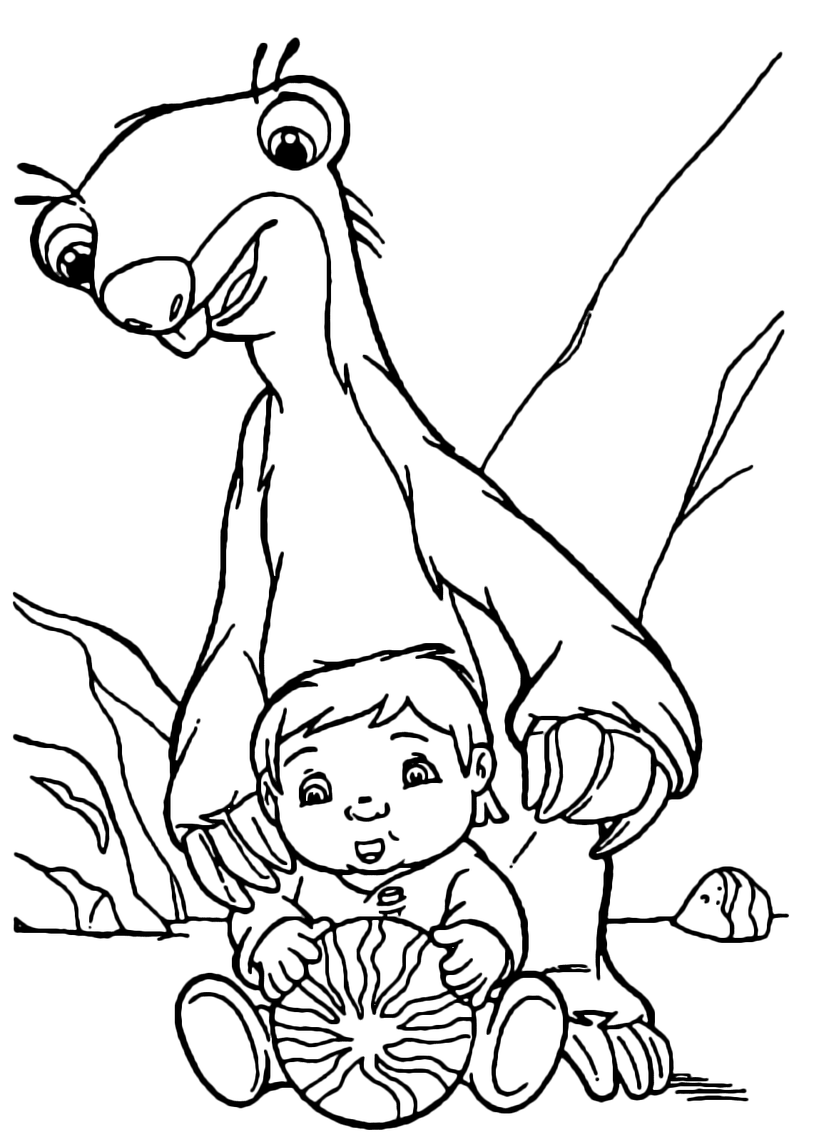 coloring book for age 2 ice age sid looks affectionately at the baby for coloring 2 age book