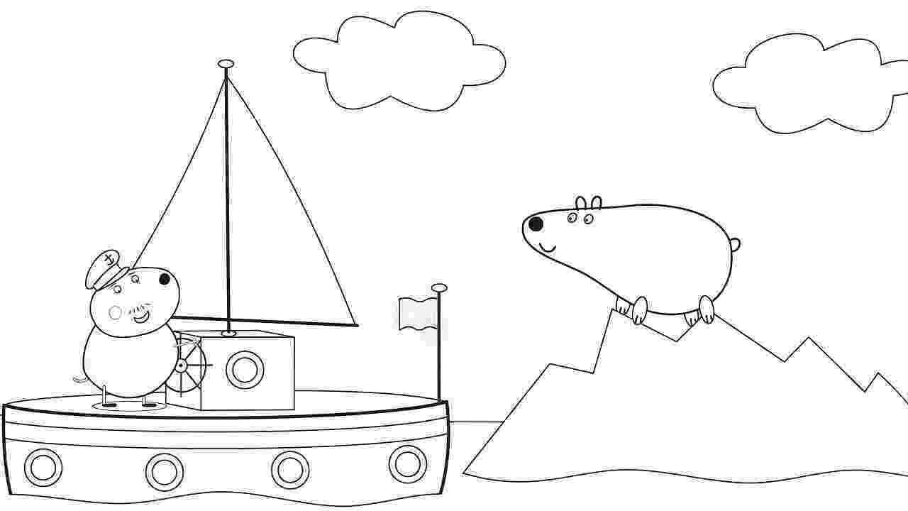 coloring book playlist peppa pig captain daddy dog drawing and coloring pages book coloring playlist