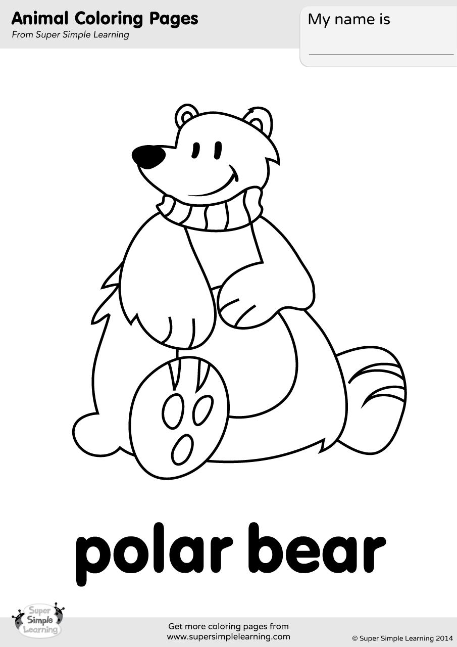 coloring book polar bear polar bear coloring page super simple polar bear book coloring