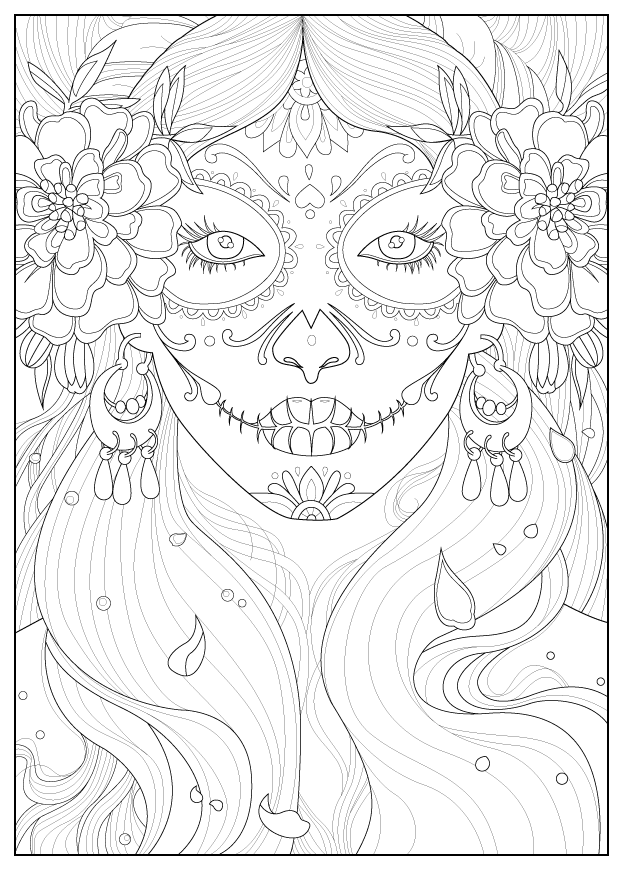coloring books for grown ups dia de los muertos yucca flats nm wenchkin39s coloring pages dia de los for grown de los ups dia coloring books muertos