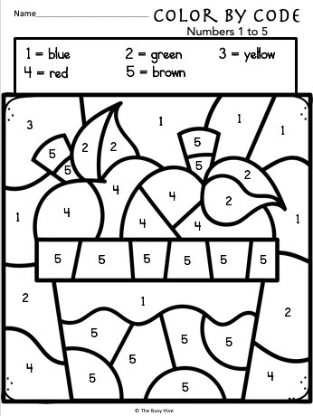 coloring by number worksheets easy color by number for preschool and kindergarten worksheets by number coloring