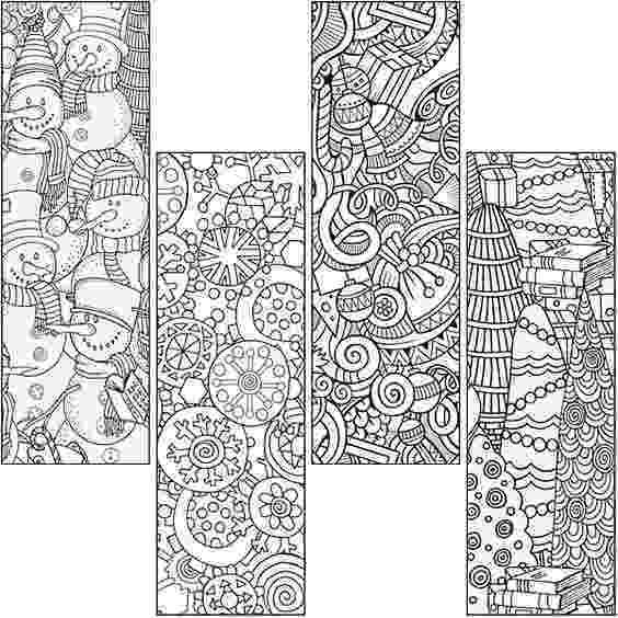 coloring christmas bookmarks christmas bookmark coloring page marcapáginas con motivos christmas coloring bookmarks
