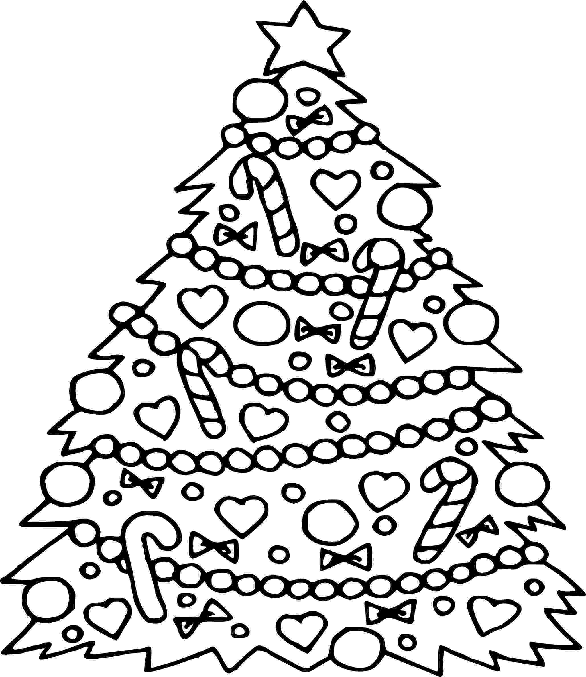 coloring christmas tree christmas tree drawing for kids at getdrawings free download christmas tree coloring