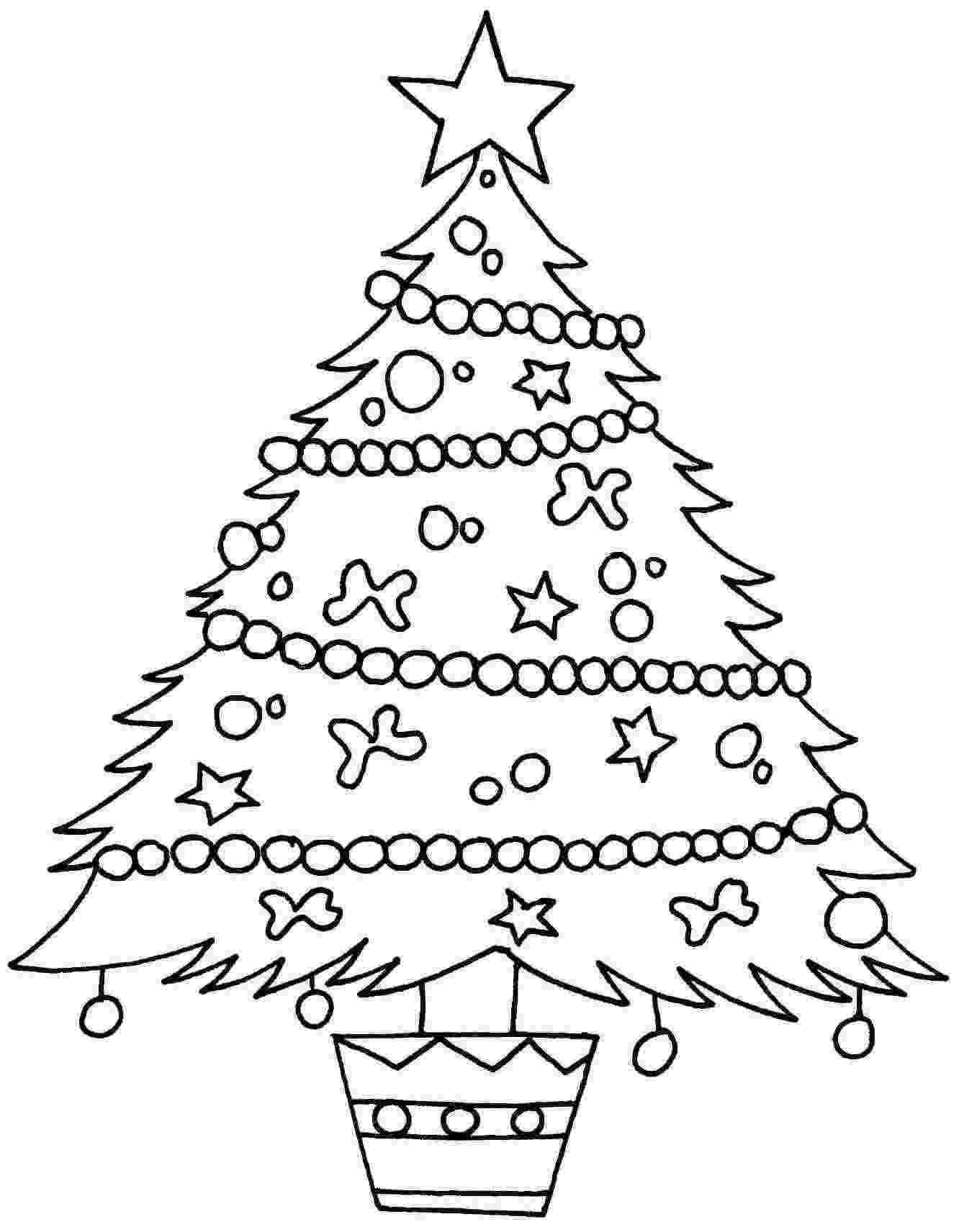 coloring christmas tree free printable christmas tree coloring pages for kids christmas coloring tree 1 1