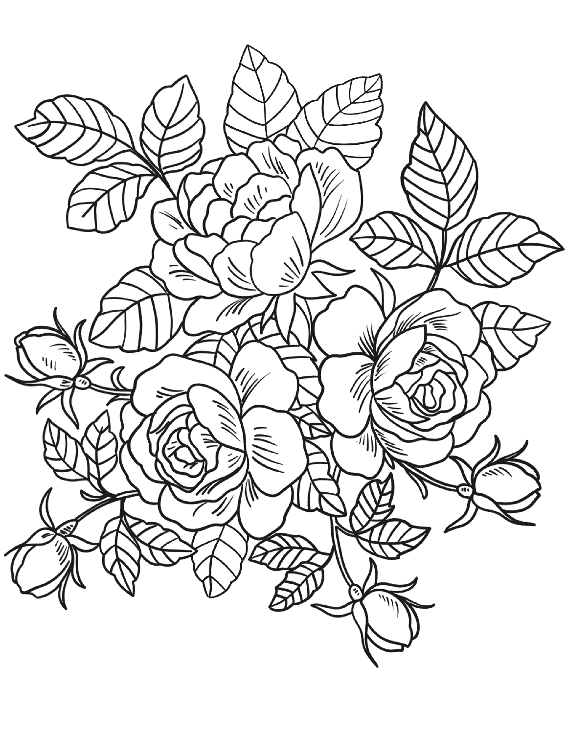 coloring flower pictures flower garden coloring pages to download and print for free pictures coloring flower