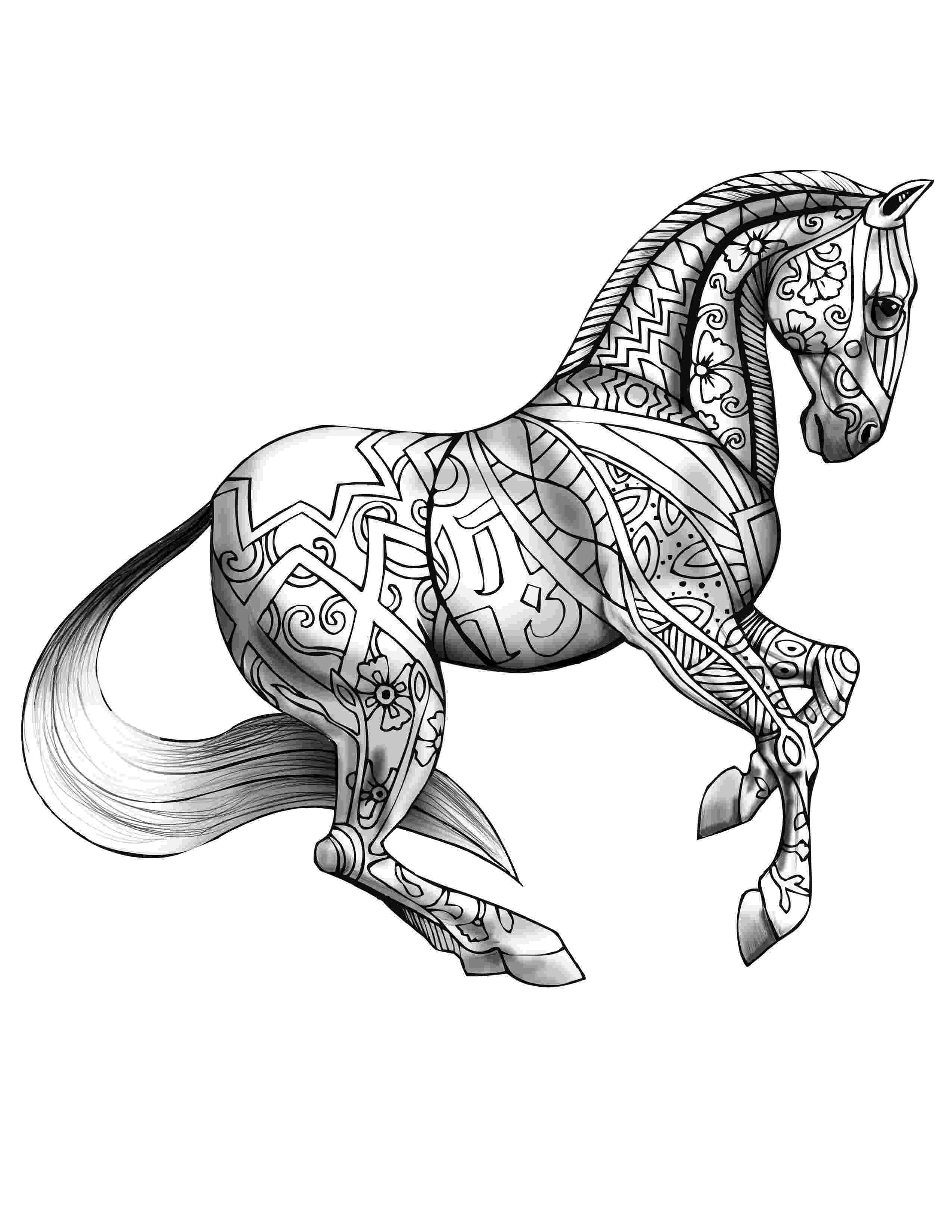 coloring horse pages realistic horse coloring pages to download and print for free pages horse coloring