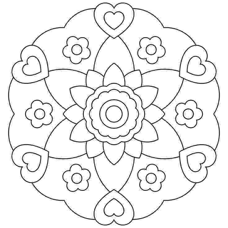coloring mandalas free printable mandala printable adult coloring page from favoreads free coloring mandalas printable