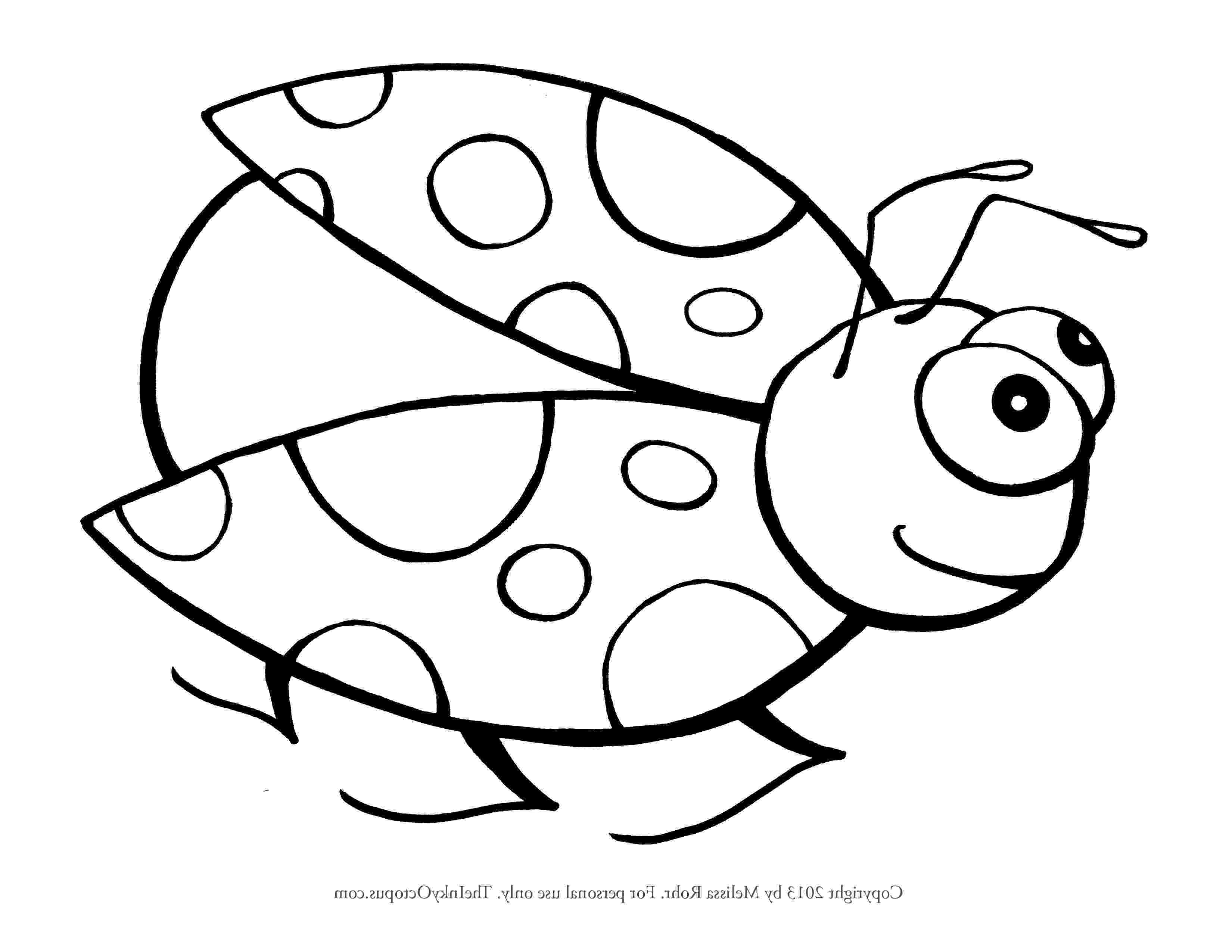 coloring page ladybug ladybug cartoon drawing at getdrawingscom free for ladybug coloring page