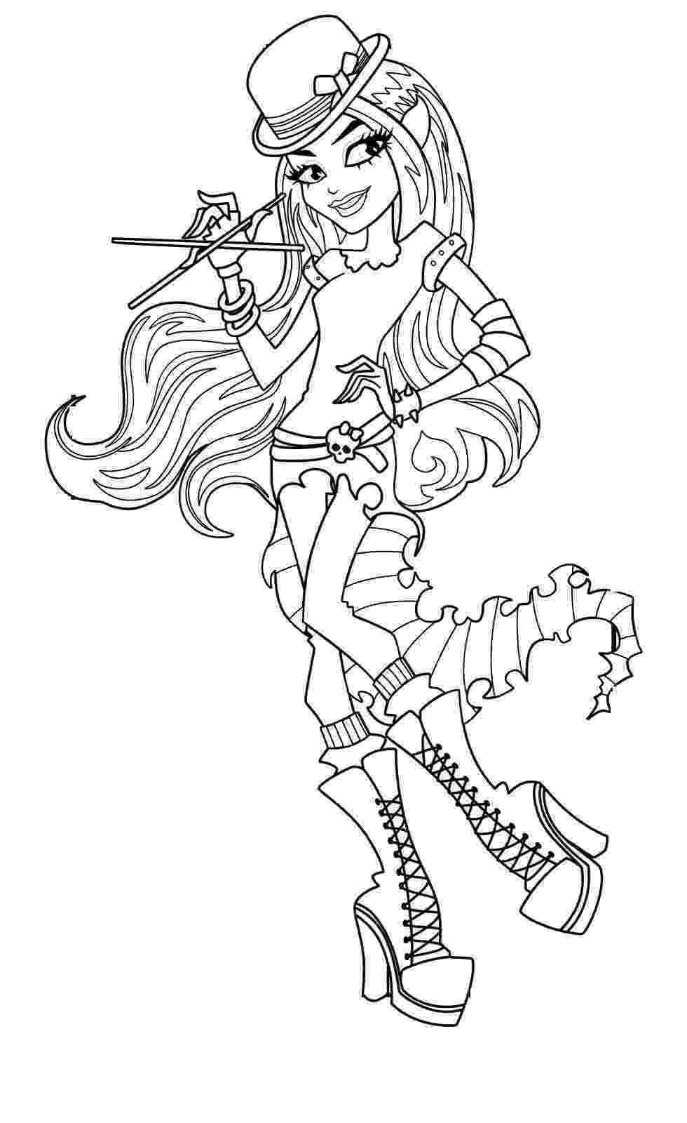 coloring page monster high 1000 images about mhigh on pinterest page high coloring monster