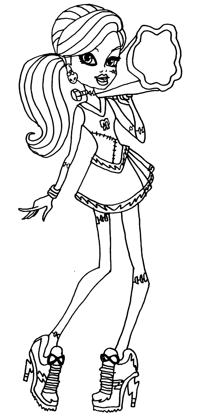 coloring page monster high monster high frankie stein activity coloring pages high coloring page monster