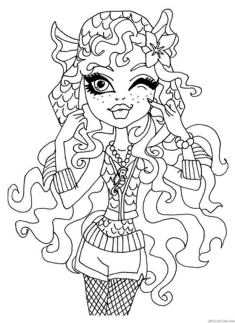 coloring page monster high print monster high coloring pages for free or download high coloring page monster