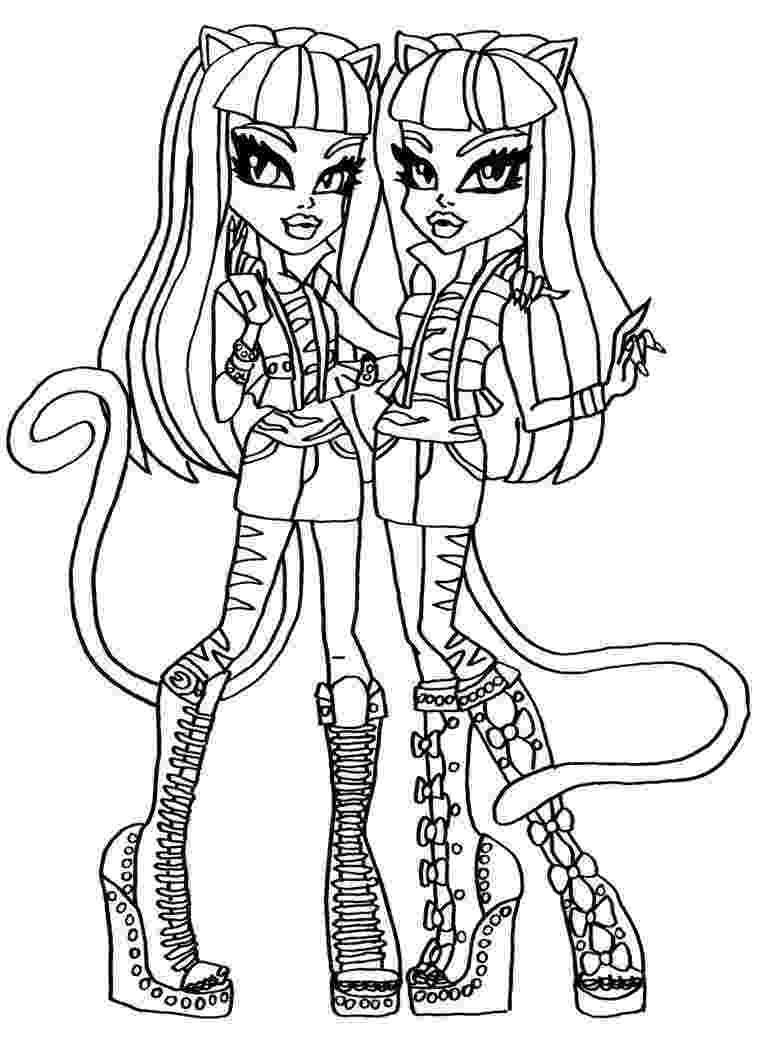 coloring page monster high purrsephone meowlody monster high coloring page page coloring monster high