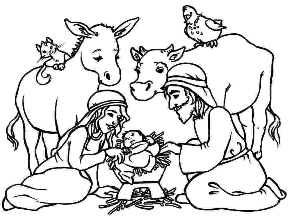 coloring page nativity scene free printable nativity coloring pages for kids best nativity page coloring scene