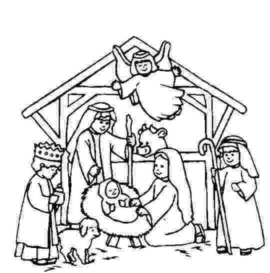 coloring page nativity scene nativity scene coloring page sunday school craft and page coloring nativity scene