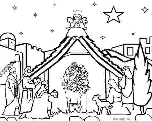 coloring page nativity scene printable nativity scene coloring pages for kids cool2bkids page nativity scene coloring