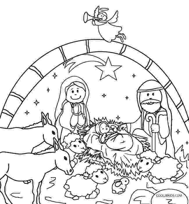 coloring page nativity scene the birth of christ page coloring nativity scene