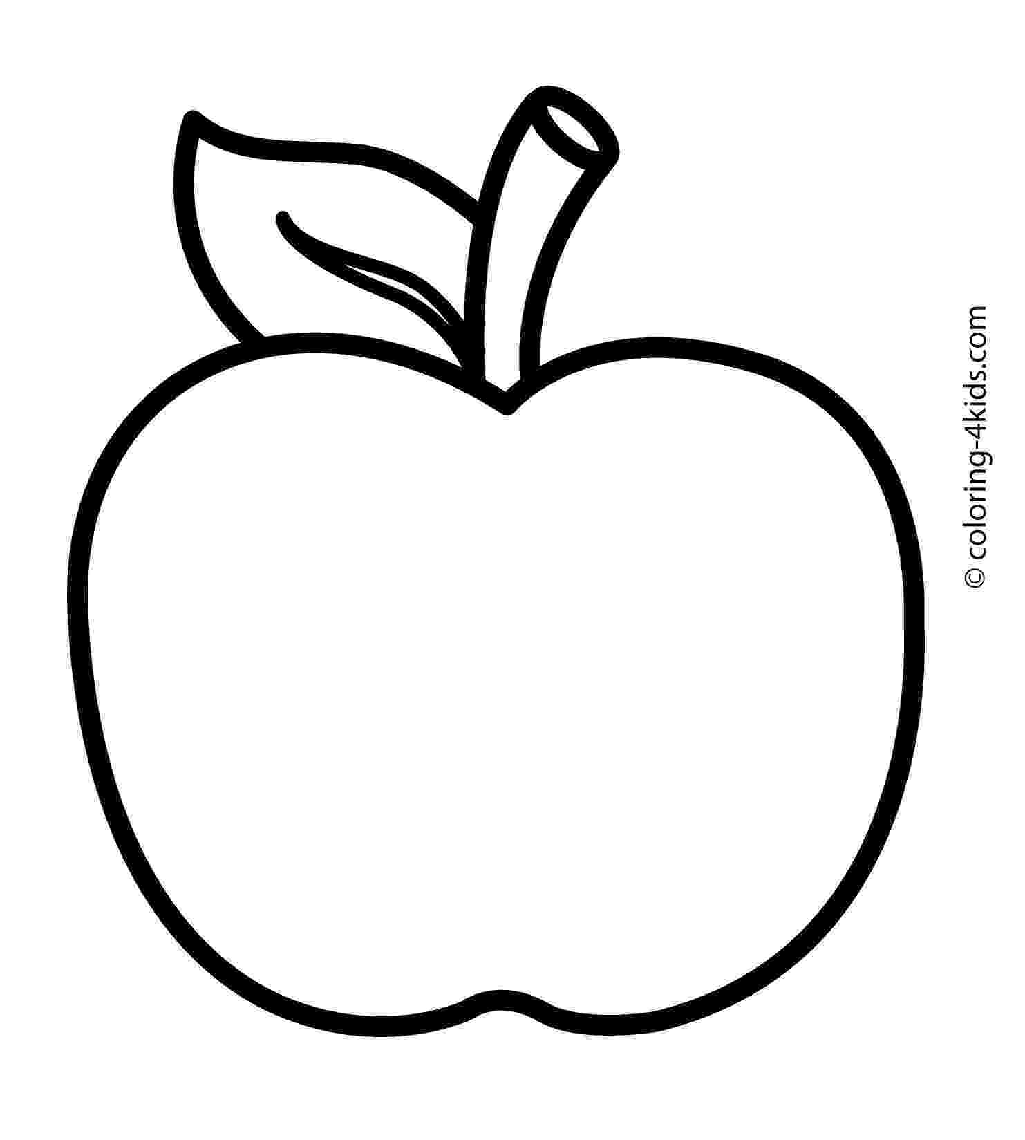 coloring page of an apple line drawing of apple at getdrawingscom free for page apple coloring of an