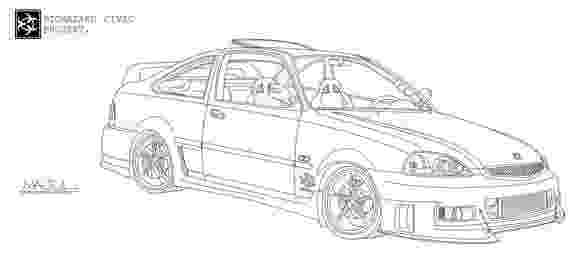 coloring pages 2000 line drawings of impreza coupe nasioc 2000 coloring pages